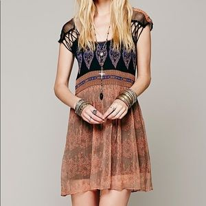 Used: Free People Flaming Hearts Dress